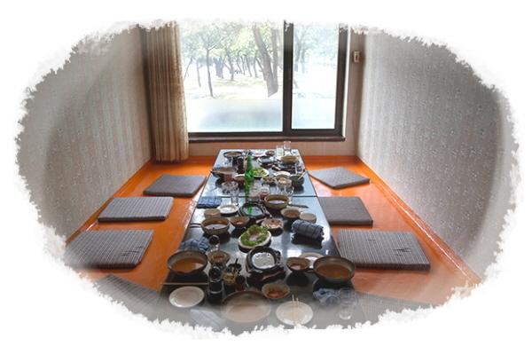북한 원산 시내 식당의 식탁에 남은 음식들. 사진=RFA
